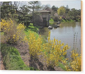 Springtime At The Japanese Gardens Wood Print
