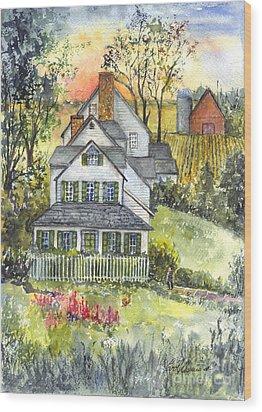 Springtime Down On The Farm Wood Print by Carol Wisniewski