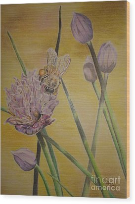 Springtime Glow Wood Print by Laurianna Taylor