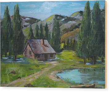 Springtime In The High Country Wood Print by Judi Pence
