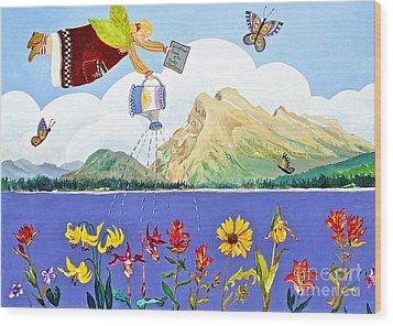 Springtime In The Rockies Wood Print by Virginia Ann Hemingson