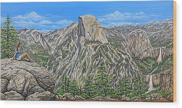 Springtime In Yosemite Valley Wood Print