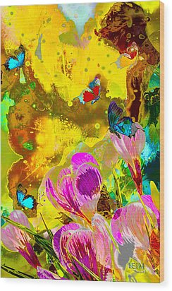 Springtime Splash Wood Print by Mayhem Mediums
