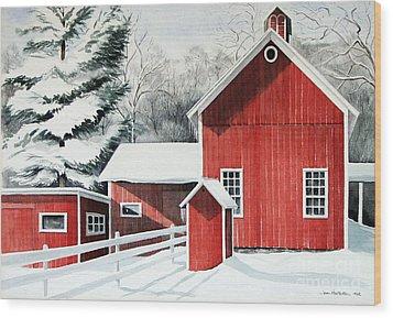 Springwater Barns Wood Print