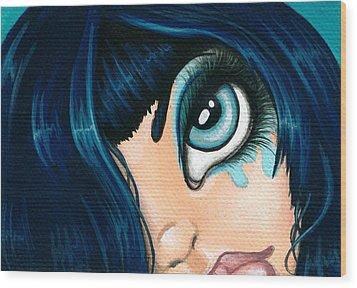 Spying Fae 01 Wood Print by Elaina  Wagner