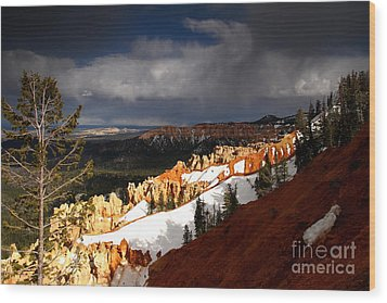 Squall Over The South Rim Wood Print by Butch Lombardi
