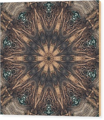 Square Roots Wood Print by Wendy J St Christopher