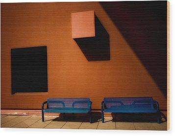 Square Shadows Wood Print