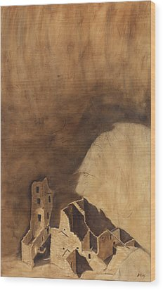 Square Tower Wood Print by Jack Atkins