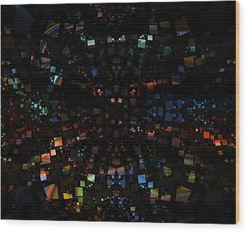 Square Universe 3 Wood Print by Steve K