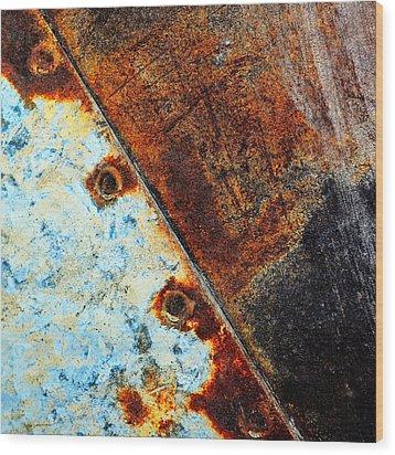 Squared Away Wood Print
