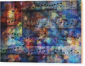 Squared Off Wood Print by Lon Chaffin