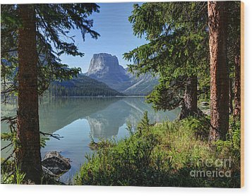 Squaretop Mountain - Wind River Range Wood Print by Gary Whitton