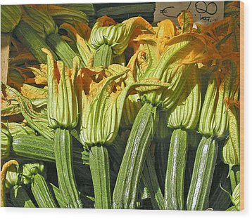 Squash Blossoms Wood Print by Jean Hall