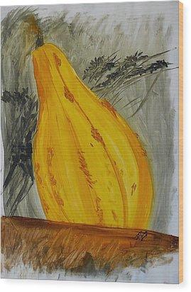 Squash Wood Print