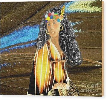 Little Squaw Piloqutinnguaq  Wood Print by Belinda Threeths