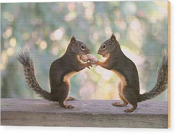 Squirrels That Share Wood Print