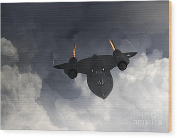 Sr-71 Blackbird Wood Print by J Biggadike