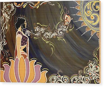 Sri Lalita Wood Print by Meenakshi Malhotra