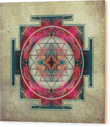 Sri Yantra  Wood Print by Filippo B