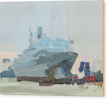 Wood Print featuring the painting Ss Rotterdam by Nop Briex