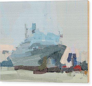 Ss Rotterdam Wood Print by Nop Briex