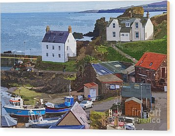 St. Abbs Harbour - Photo Art Wood Print