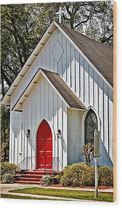 Wood Print featuring the photograph St. Alban's Episcopal by Linda Brown