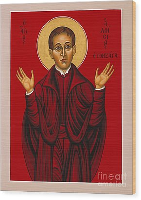 St. Aloysius In The Fire Of Prayer 020 Wood Print