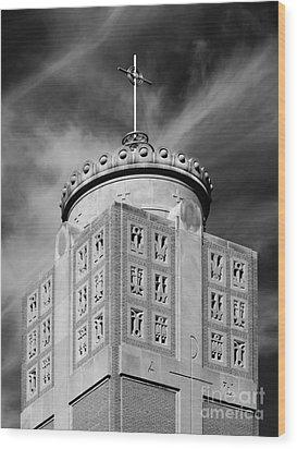 St. Ambrose University Christ The King Chapel Wood Print by University Icons