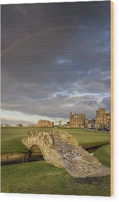 St Andrews Bridge Wood Print by Chris Frost