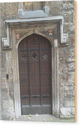 St. Andrew's Door Wood Print