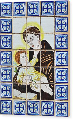 St Anthony Of Padua Wood Print by Christine Till