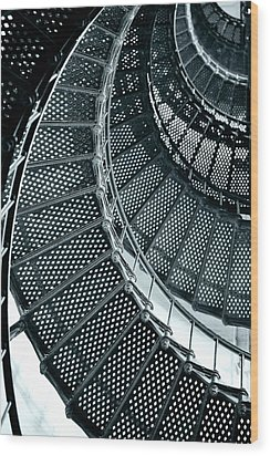 St Augustine Lighthouse Staircase Wood Print by Christine Till