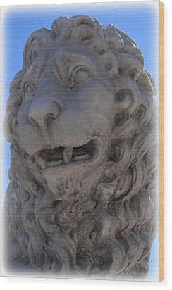 St. Augustine Lion 1 Wood Print by Sheri McLeroy
