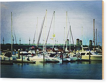 St. Augustine Sailboats Wood Print by Laurie Perry