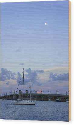 St. Augustine Sunset Wood Print