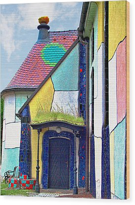 St Barbara Church - Baernbach Austria Wood Print by Christine Till