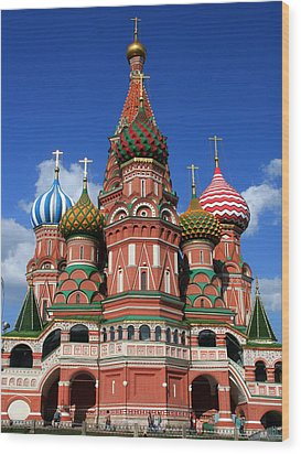 St. Basil's Cathedral Wood Print by Laurel Talabere