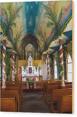 St Benedicts Wood Print by Randy Sylvia