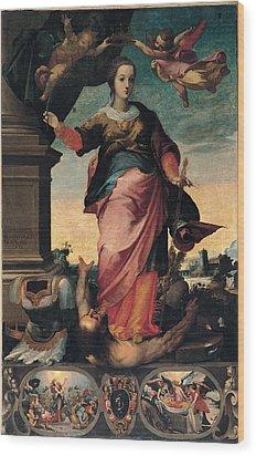 St Catherine Of Alexandria, 1570 - 1611 Wood Print by Il Sozzo