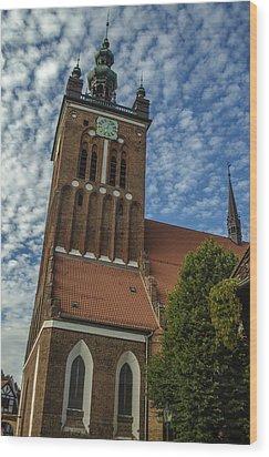 St. Catherine's Church In Gdansk Wood Print by Adam Budziarek