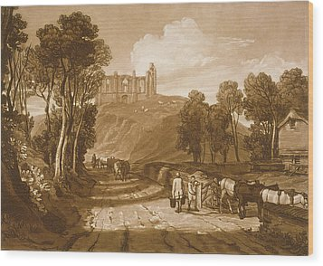 St Catherines Hill Near Guildford Wood Print by Joseph Mallord William Turner