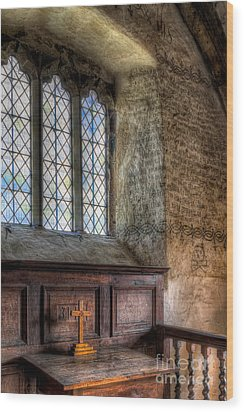 St Celynnin Church Wood Print by Adrian Evans