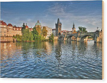 St Charles Bridge Prague Wood Print