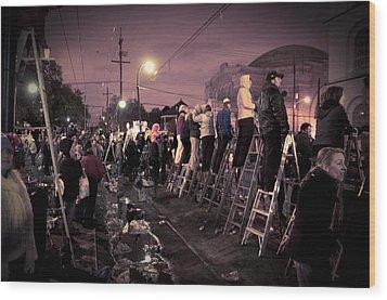 St Charles Night Parade Wood Print by Ray Devlin