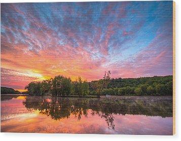 St. Croix River At Dawn Wood Print