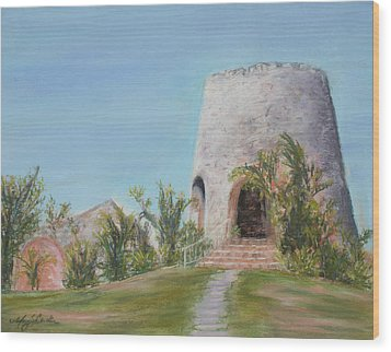 St. Croix Sugar Mill Wood Print