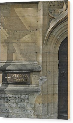 St. Cross College Wood Print by Joseph Yarbrough
