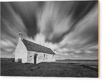 St Cwyfan's Church Wood Print by Dave Bowman